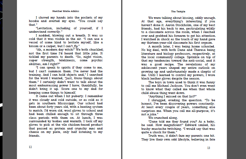 book format microsoft word