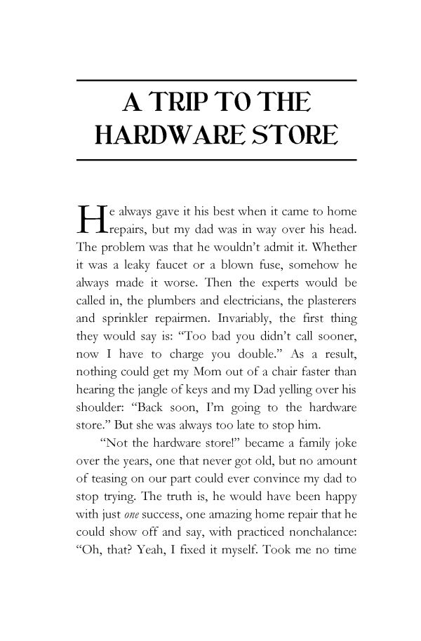 A Trip to the Hardware Store & Other Calamities by Barbara Venkataramea